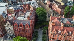 aerial view of Jesuit Centre in London